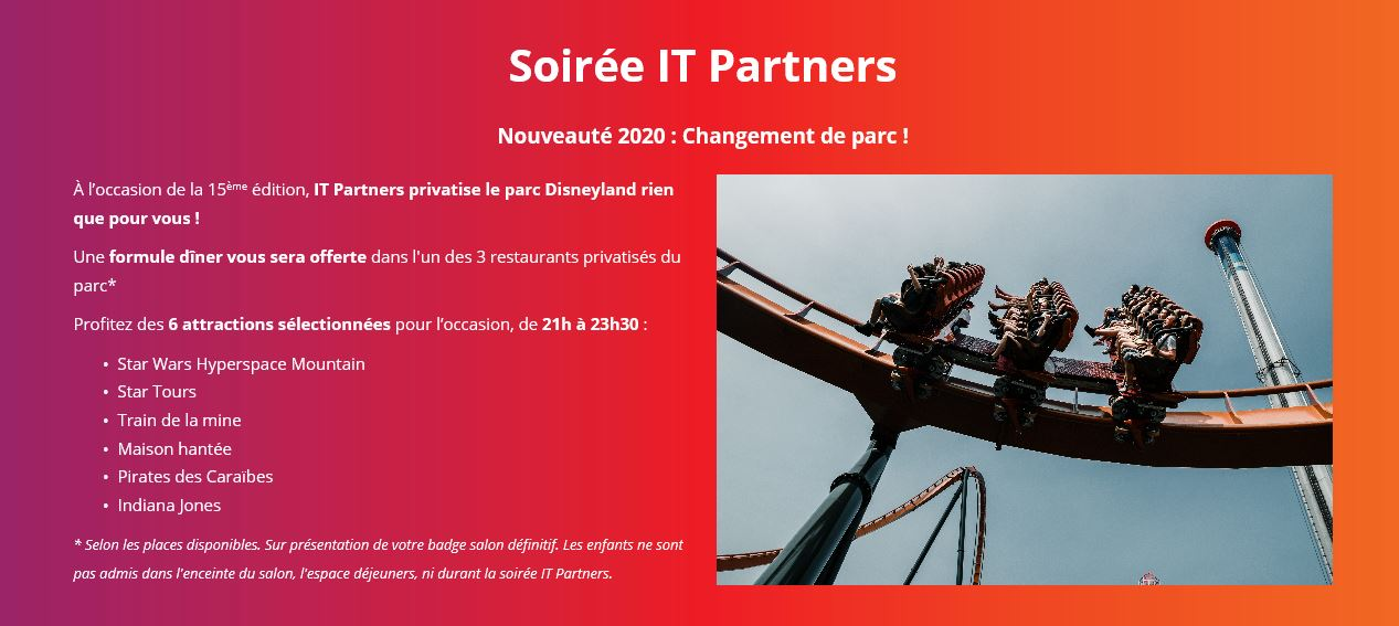 Synchronicite - Soiree IT PARTNERS 2020